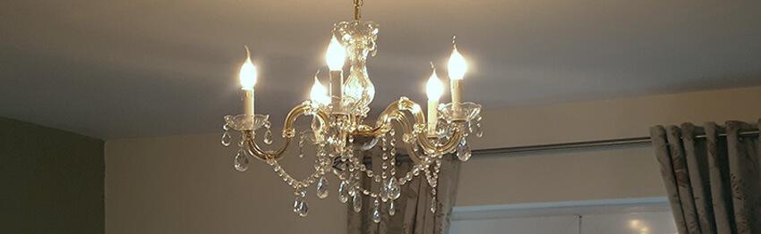 Glass chandelier