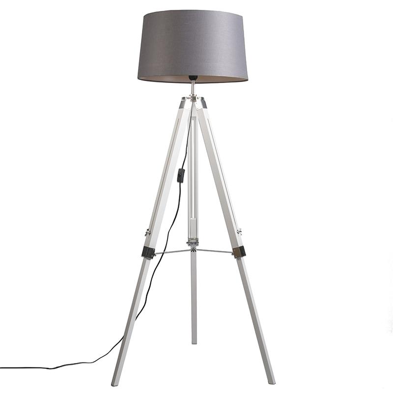 Industrial Floor Lamp White With Gray, Tripod Spotlight Floor Lamp Aldi