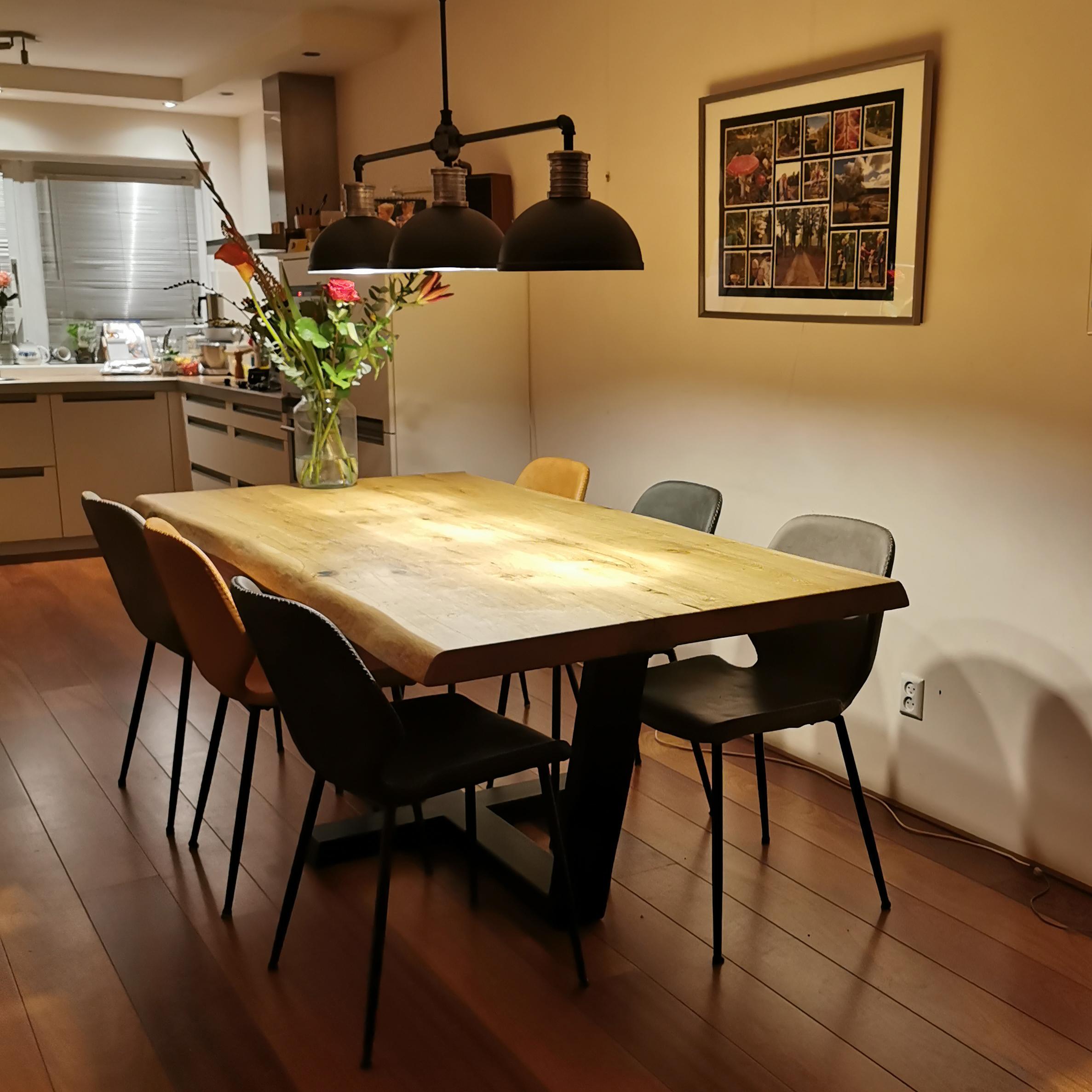 Industrial Hanging Lamp Black 3 Lights, Industrial Dining Room Lighting