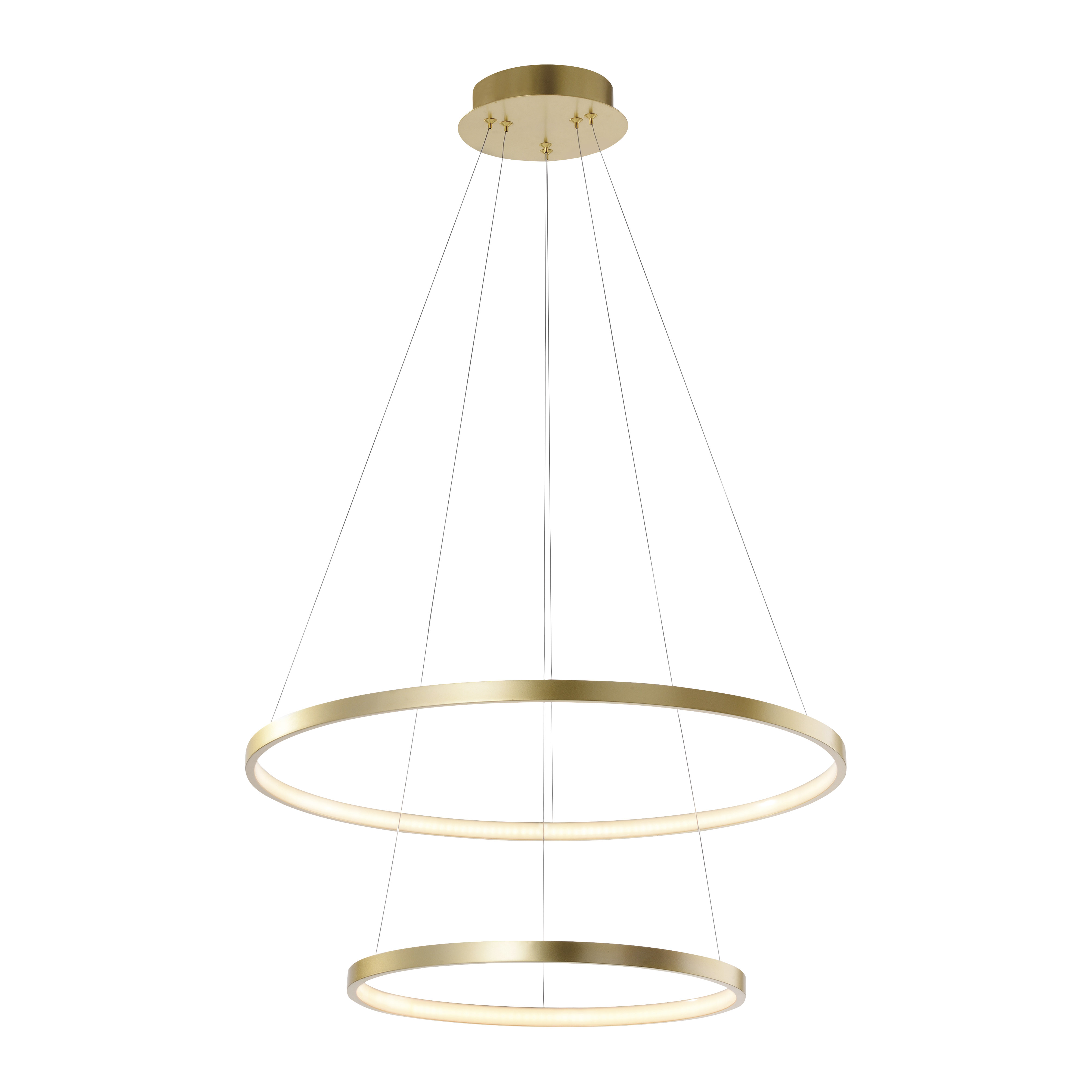 Modern Ring Hanging Lamp Gold Incl Led Anella Duo Lampandlight