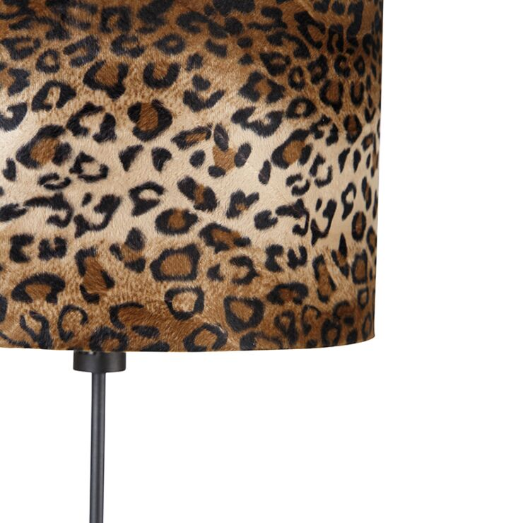 Floor Lamp Black Shade Leopard Design, Leopard Print Lamp Shade Uk