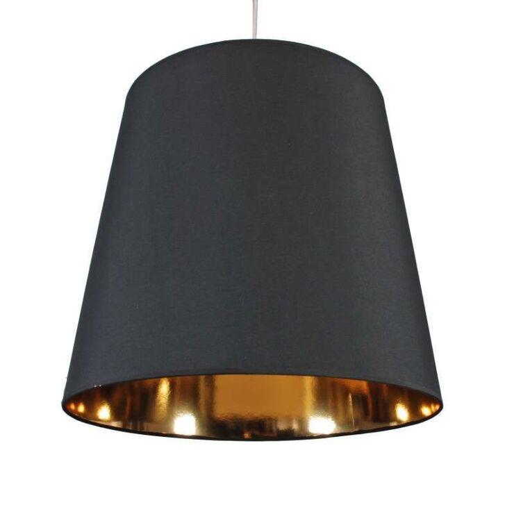 Hanging Lamp Shade Black Gold, Black And Gold Pendant Lamp Shade