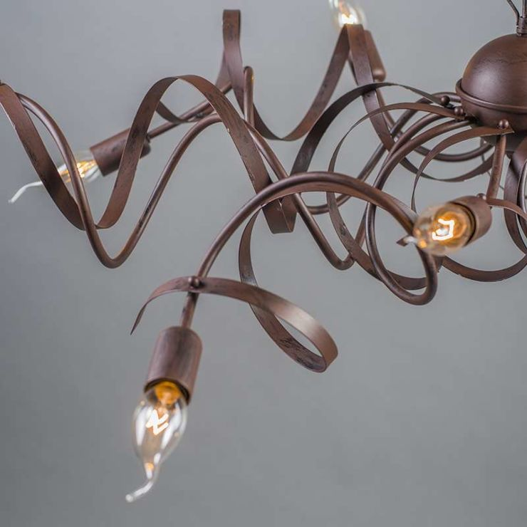Country Chandelier Brown 10 Light, Chandelier Hanging Mountain