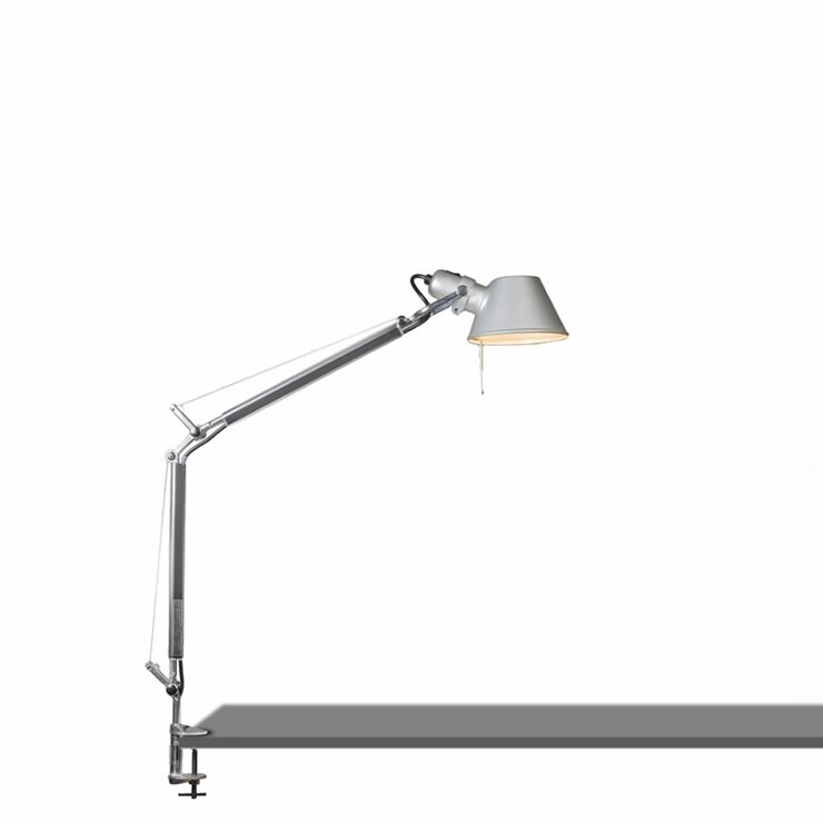 Artemide Adjustable Clamp Table Lamp, Tolomeo Table Lamp With Clamp