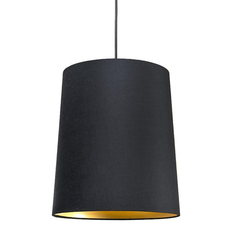 Shade Black Gold Round 35cm Lampandlight, Black And Gold Pendant Lamp Shade