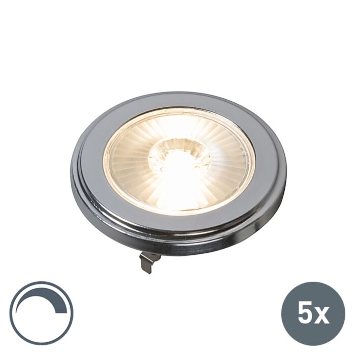 Set-of-5-G53-AR111-LED-10W-800LM-3000K-Dimmable