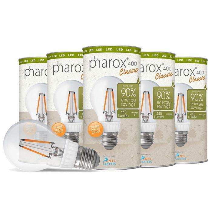 Set-of-5-E27-LED-Pharox-Classic-4W-440LM