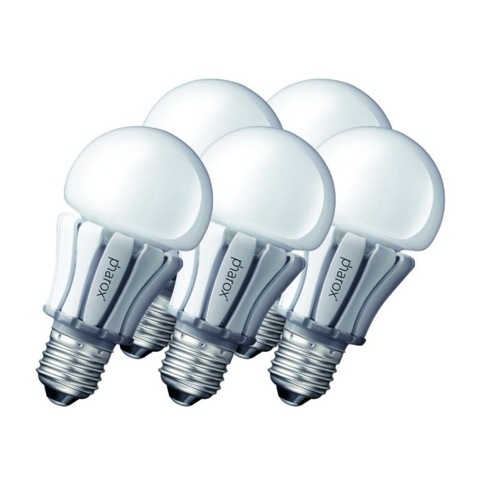 Set-of-5-E27-LED-Pharox-8W-420LM