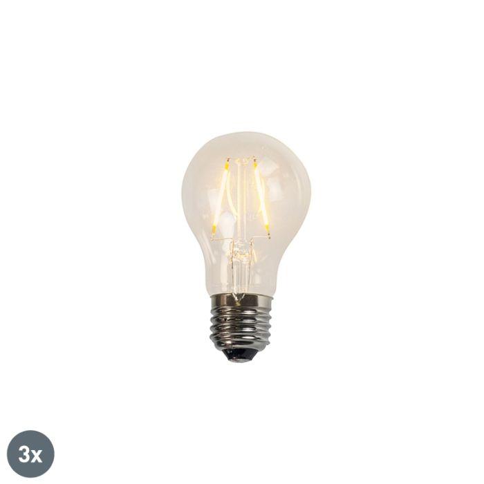 Set-of-3-E27-LED-A60-Clear-Filament-2W-180LM-2200K