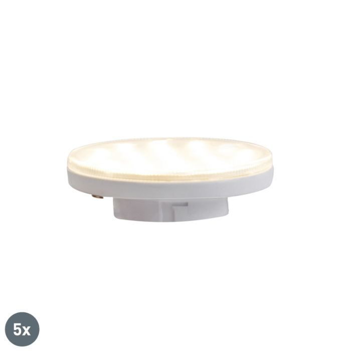 Set-of-5-GX53-3-step-dimmable-LED-lamps-3W-350-lm-3000K