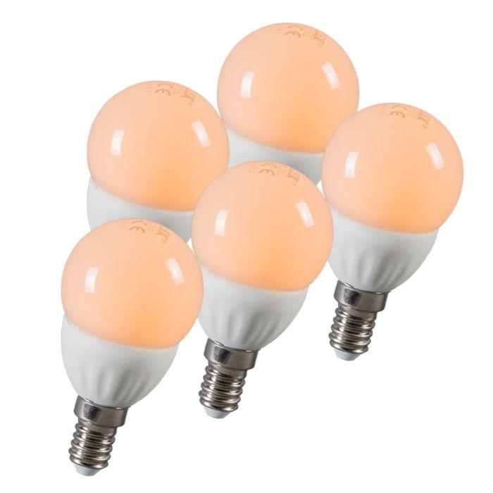 Set-of-5-LED-E14-3W=25W-250LM