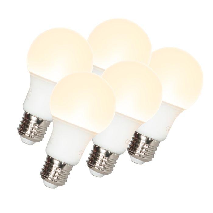 Set-of-5-E27-LED-A60-9W-810LM