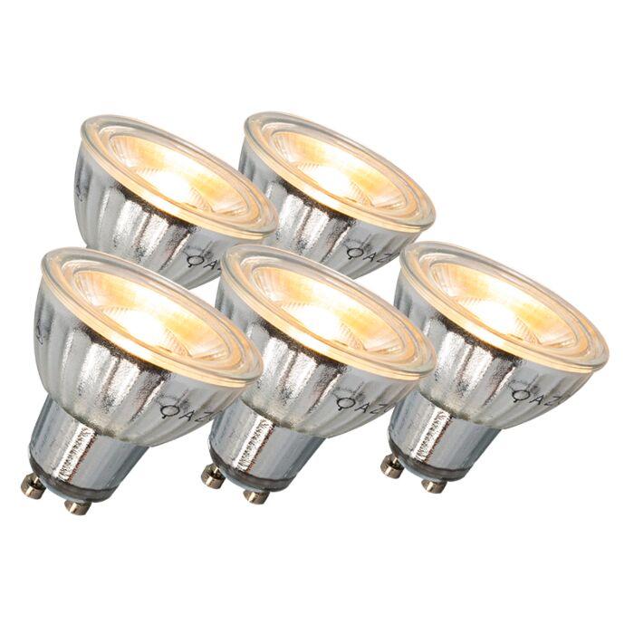 Set-of-5-LED-GU10-Bulbs-Dimmable-7W-500-lumen-3000K