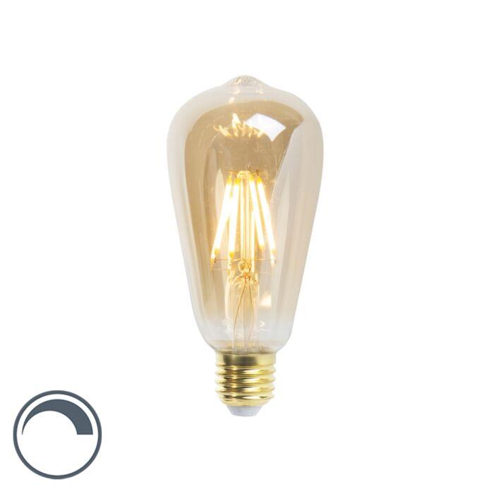 E27-dimmable-LED-filament-lamp-ST64-5W-360-lumen-2200K