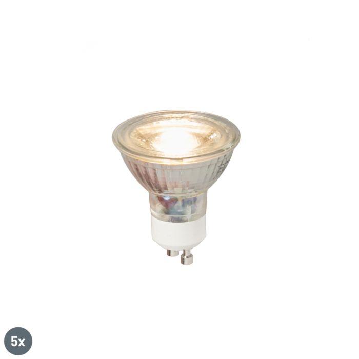 Set-of-5-GU10-LED-lamp-COB-5W-380LM-3000K
