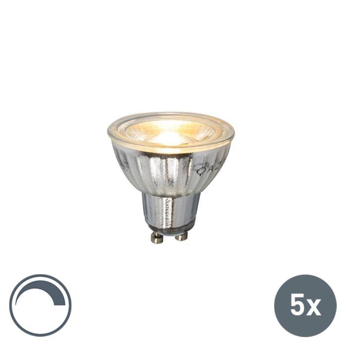Set-of-5-GU10-LED-5W-380LM-2700K