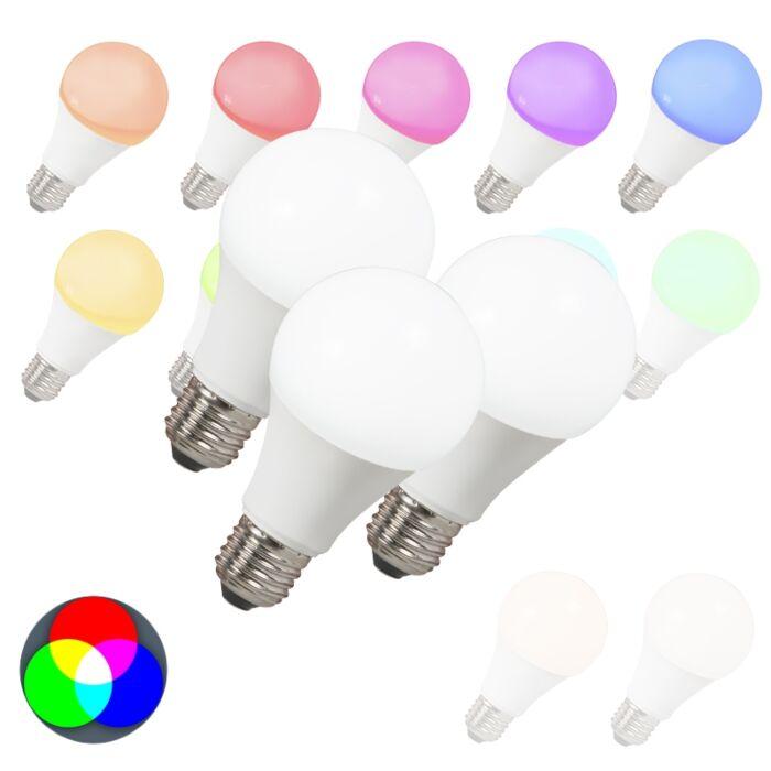 Set-of-3-E27-LED-Smart-RGB-A60-7W-500LM