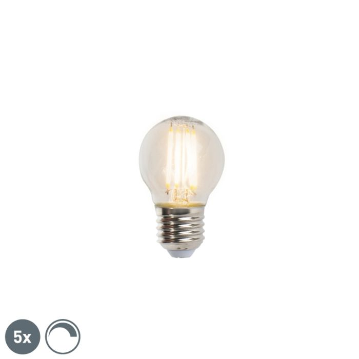 Set-of-5-E27-LED-Filament-Golf-P45-5W-470LM-2700K-Dimmable