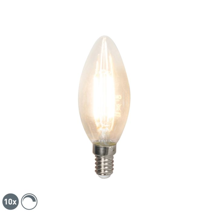 Set-of-10-E14-LED-B35-Candle-Clear-Filament-3.5W-350LM-2700K-Dimmable