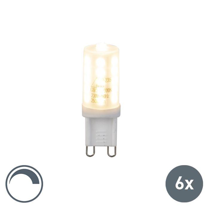 Set-of-6-G9-LED-3W-250LM