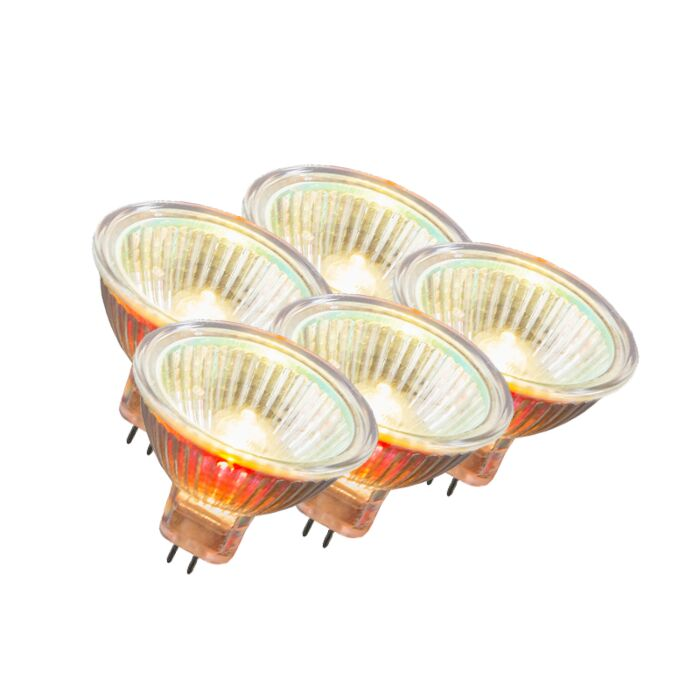 Set-of-5-MR16-Halogen-10W-55LM