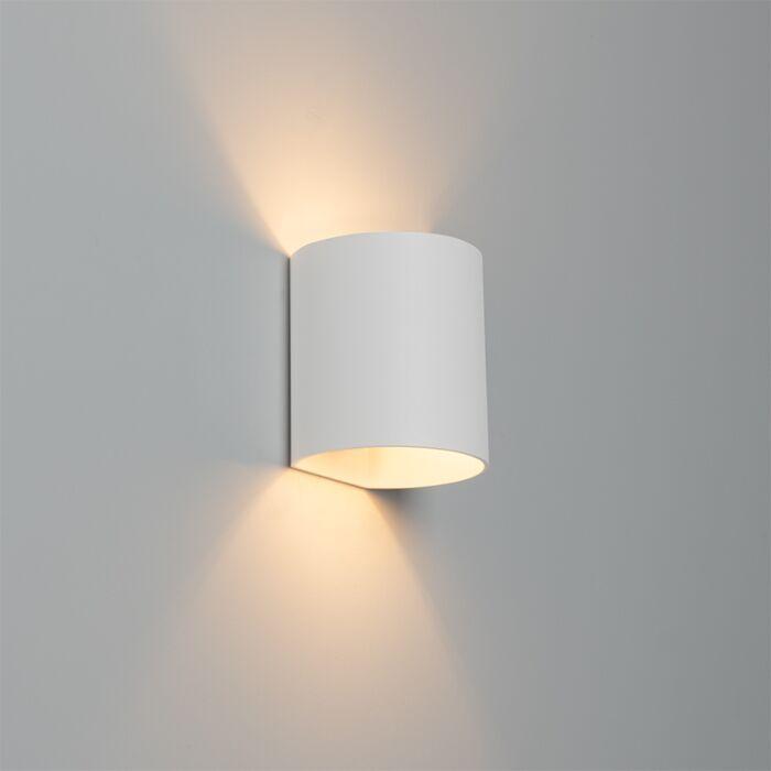 Modern-wall-lamp-white---Sabbio