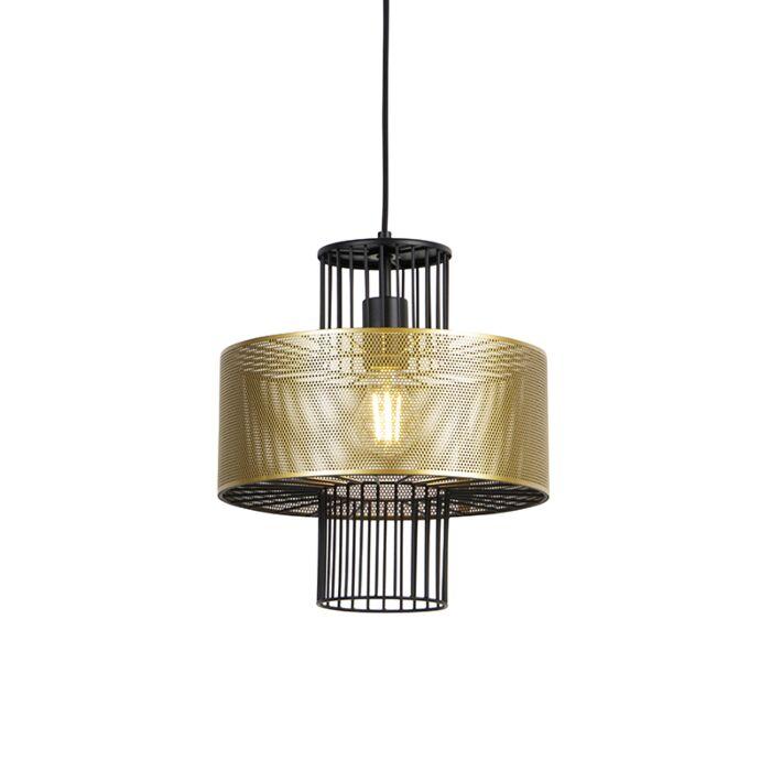 Design-hanging-lamp-gold-with-black-30-cm---Tess