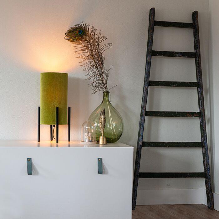 Design-table-lamp-black-velvet-shade-green-with-gold---Rich