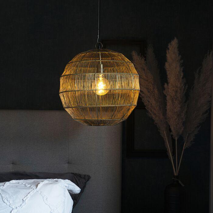 Modern-hanging-lamp-brass-42-cm---Bolti