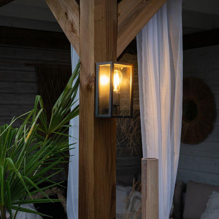 Industrial-wall-lamp-black-26-cm-IP44---Charlois