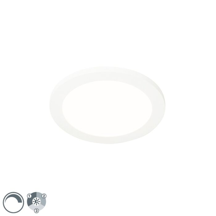 Ceiling-lamp-white-22.5-cm-incl.-LED-3-step-dimmable-IP44---Steve