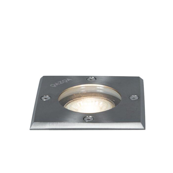 Ground-spot-steel-10.5-cm-IP65---Basic-Square