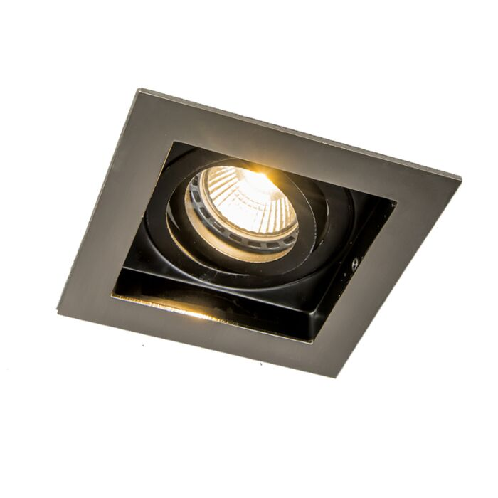 Recessed-Spotlight-Steel-with-Black---Carree