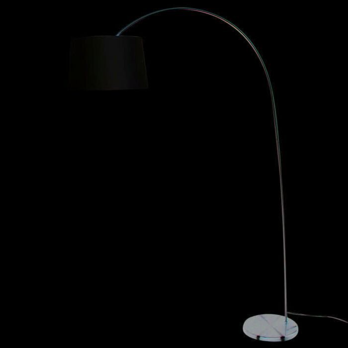 Arc-lamp-Easy-steel---off-white-shade