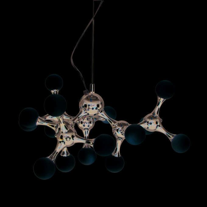 Hanging-lamp-Globo-mini-15-chrome