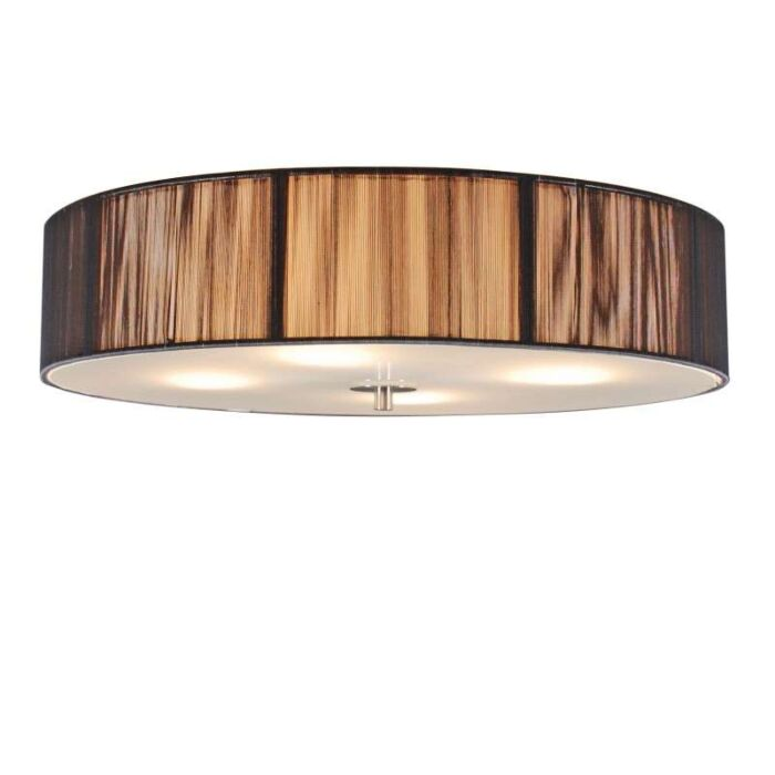 Classic-ceiling-lamp-anthracite-50-cm---Rope