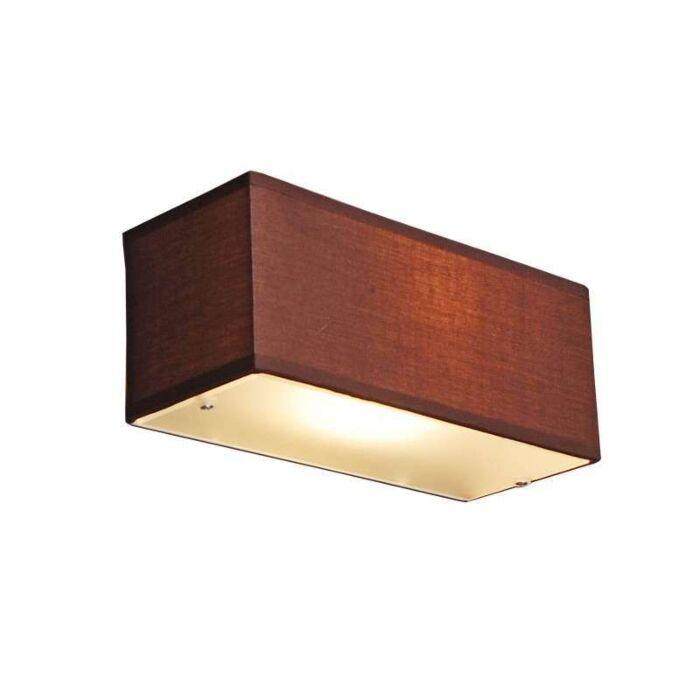 Wall-lamp-Drum-rectangular-brown