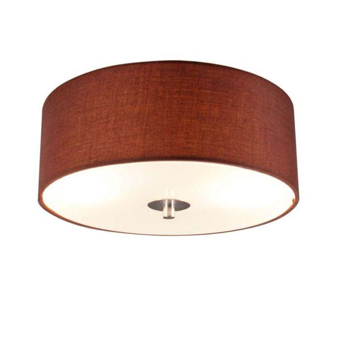 Ceiling-Lamp-Drum-30-Round-Brown