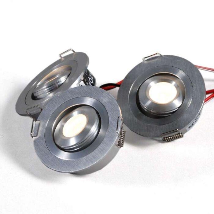 Lumiled-built-in-set-of-3-x-1W---aluminium