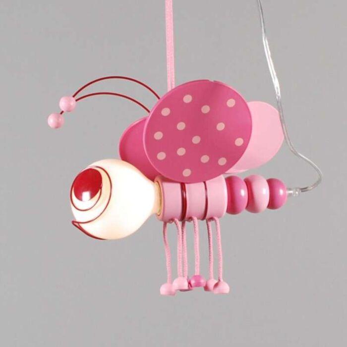 Hanging-lamp-Kids-Bee-Pink