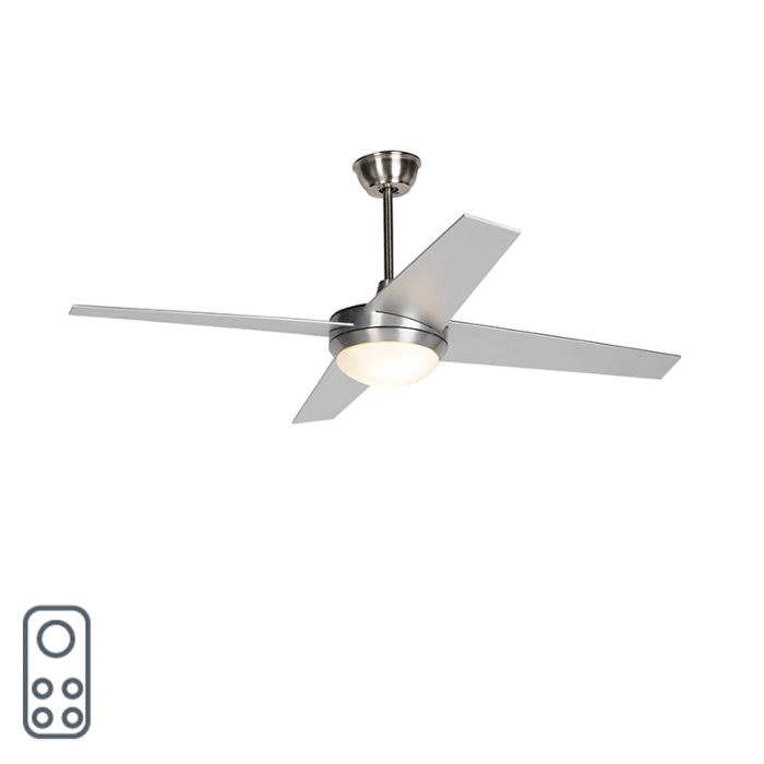 Ceiling-fan-silver-with-remote-control---Roar-52