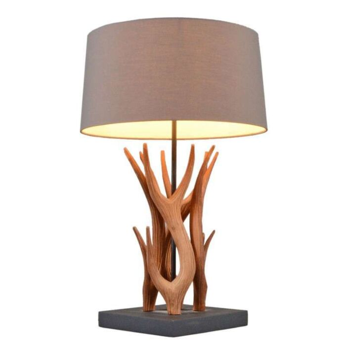 Table-Lamp-Yindee-Natural---Brown-Shade