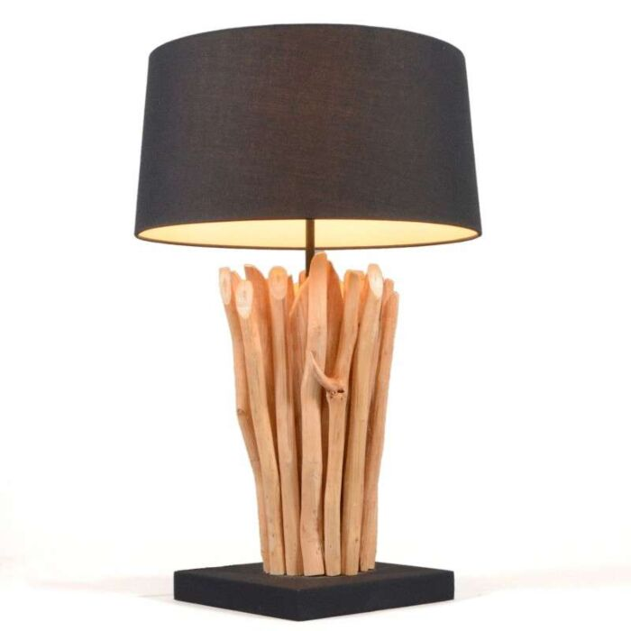 Table-Lamp-Phatom-Natural---Black-Shade