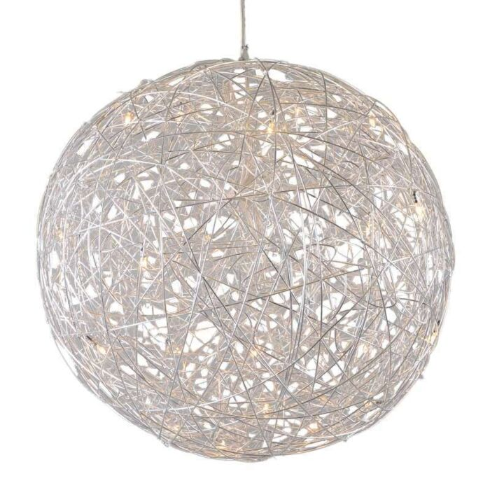 Hanging-Lamp-Draht-Sphere-80cm-Aluminium