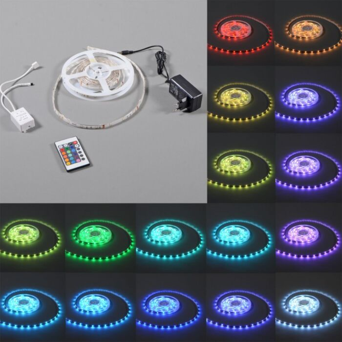 Flexible-RGB-LED-strip-IP65-3mtr-set
