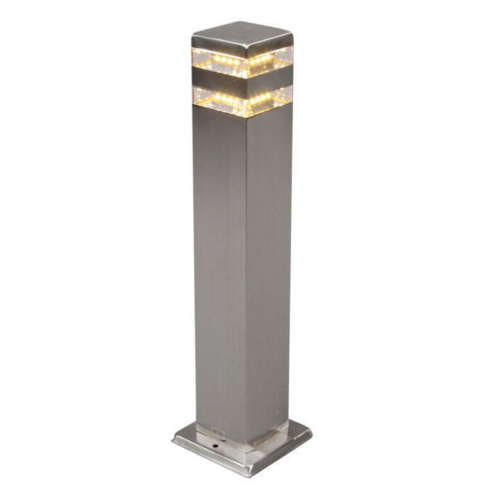 Outdoor-Lamp-Satin-Square-50cm-Steel-with-LED