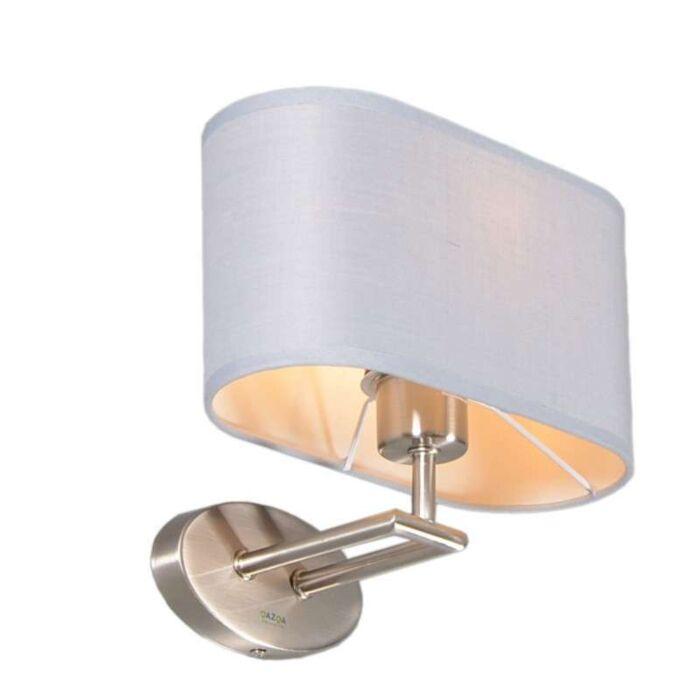 Wall-Lamp-Zadar-Steel-with-Oval-Grey-Shade