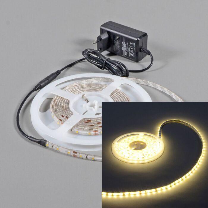 Flexible-warm-white-LED-strip-IP65-5mtr-set