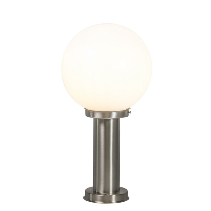 Modern-outdoor-lamp-pole-steel-stainless-steel-50-cm---Sfera