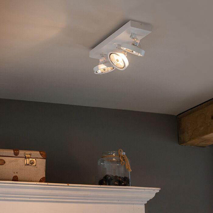 Modern-Adjustable-Spotlight-3-White-incl.-LED-G9---Go